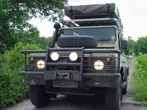Land Rover with Winch and Snorkel